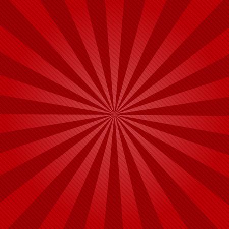 Retro ray achtergrond met lijnen van rode kleur