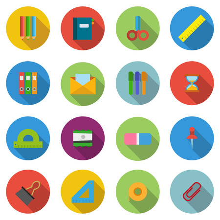 chancellerie: Set items chancellery in  flat style illustration Illustration