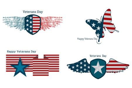 アメリカの退役軍人の日のイラスト