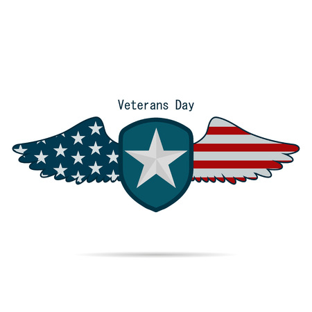 veteran: Illustration the day of veteran US  on a white background