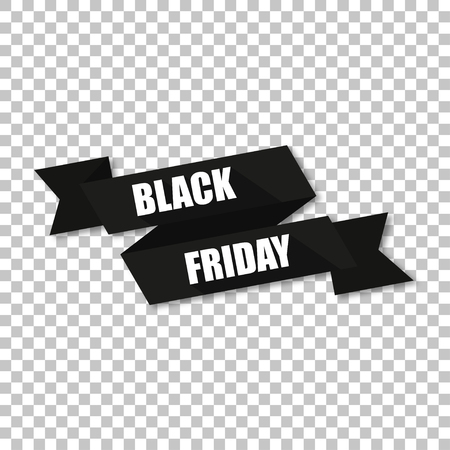 curved: Tape inscription Black Friday  with shadow stylish