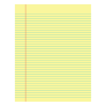 yellow paper: Notebook paper yellow colored on a white  background