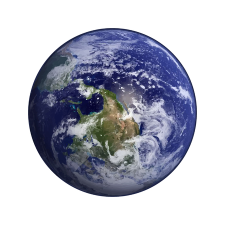 nasa: Earth in space vector.Elements of this vector  furnished by NASA