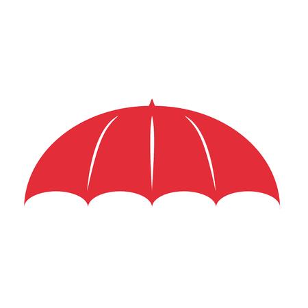 beach closed: Umbrella logo in flat design stylish  illustration