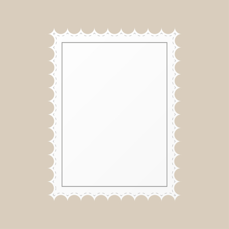 edge: Template Empty postage stamp on a brown  background