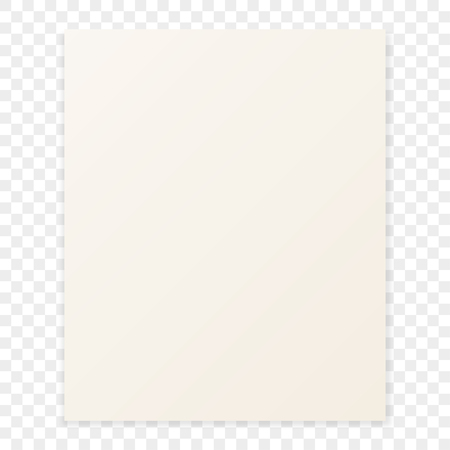 paper sheet: Sheet of paper with the shadow on a checkerboard  background