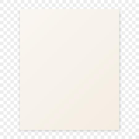 Feuille de papier avec l'ombre sur un fond en damier