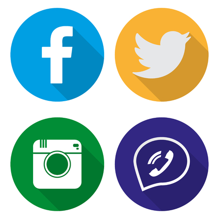 social networking: Icons for social networking vector illustration  in flat