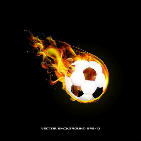 ball isolated: Burning ball on a black background illustration of  stylish Illustration