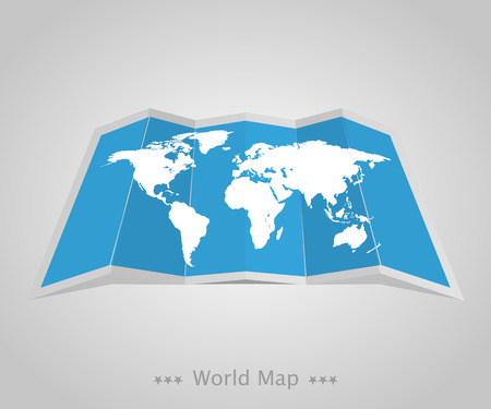 mapa europa: World map with shadow  on a grey background