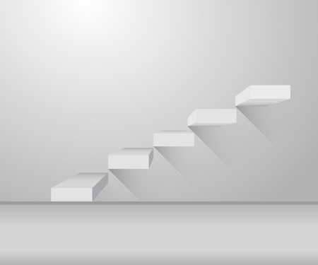 stair: Grey stair and stylish design  on illustration Illustration