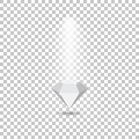 glare: Light effects fall on the diamond  making glare
