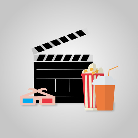 cinema viewing: Illustration on the theme of  cinema viewing