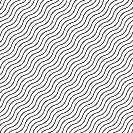Background with wavy black lines  stylish illustration