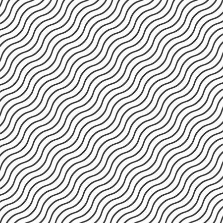 Background with wavy black lines  stylish illustration