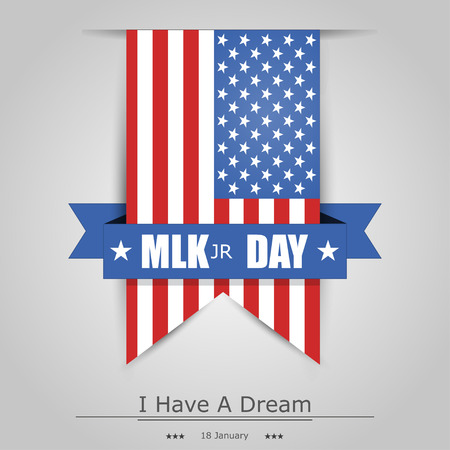 Martin Luther King Day banner with  a grey background Illustration
