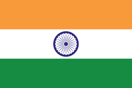bharat: Flag of India illustration  3 stylish colors