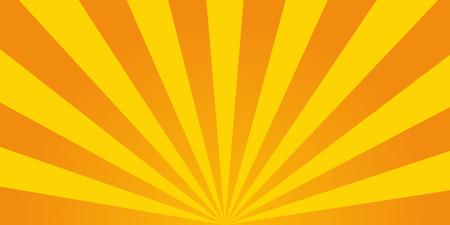 yellow orange: Retro ray orange background in  vintage style