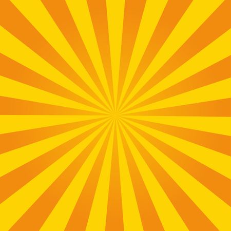 Retro ray orange background in vintage style