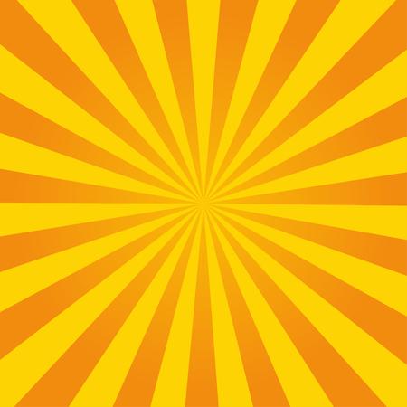 Retro ray oranje achtergrond in vintage stijl