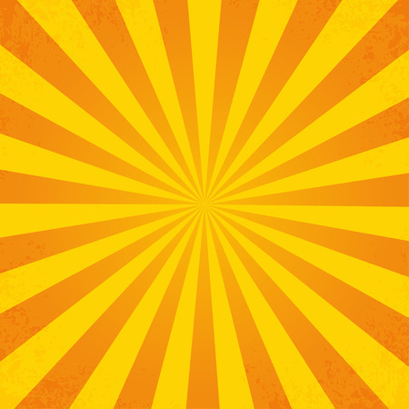 sixties: Retro orange background ray in vintage style  with dirt