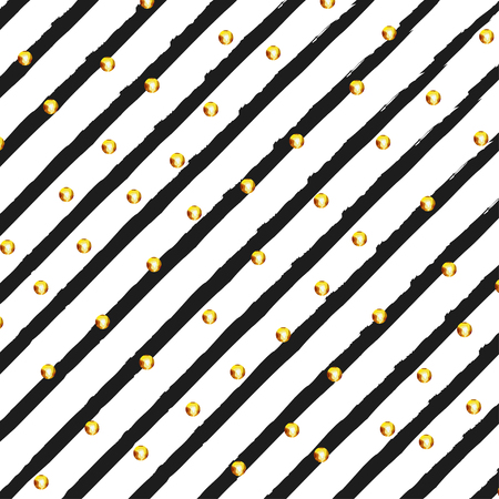 black backgrounds: Background in line with gold circles stylish  illustration