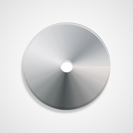 cd r: Disc gray in color with shadow  volumetric