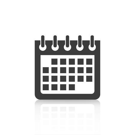 Kalenderpictogram webdesign en vlakke afbeelding Stock Illustratie