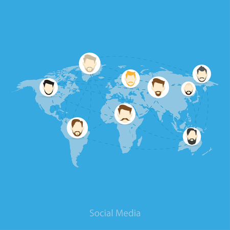 business help: Illustration of the relationship between different  people world