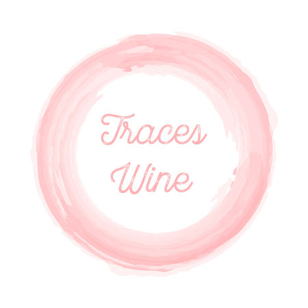 traces: wine traces on a white background this stylish Illustration
