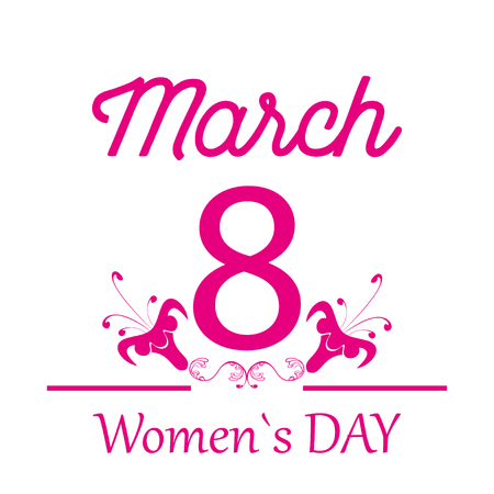 womans day: Eighth of March illustration for  womens day