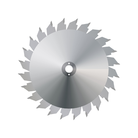 saw blade: Circular saw blade on a white  background