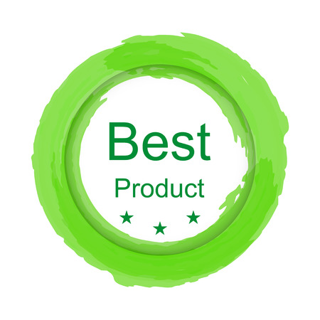 best product: Colorful label circle brush stroke  best product Illustration