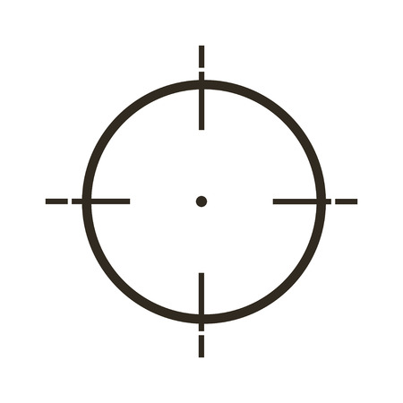 sights: Sight icon in  flat style, gray color  white background Illustration