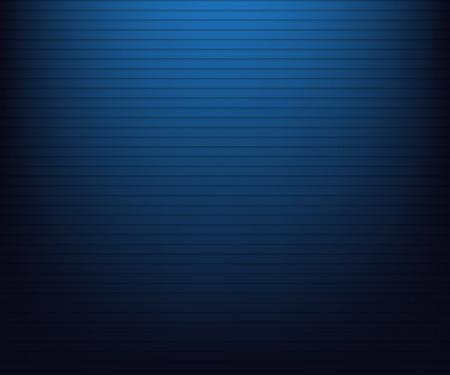 Blauw radiaal verloop in zwart met lijnen Vector Illustratie