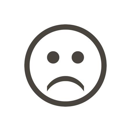 Icono emociones tristes sobre un fondo blanco Ilustración de vector