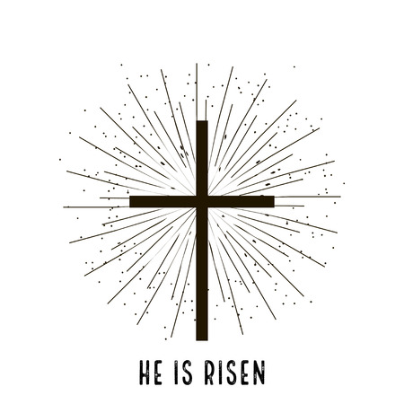 Christ is risen stylish design vector illustration
