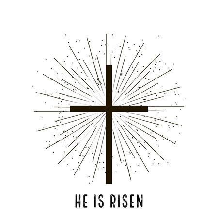 risen: Christ is risen stylish design vector  illustration