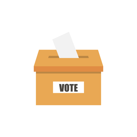 polling place: Voting concept in flat style on  a white background