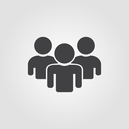 equal opportunity: People Icon on a grey background  flat design