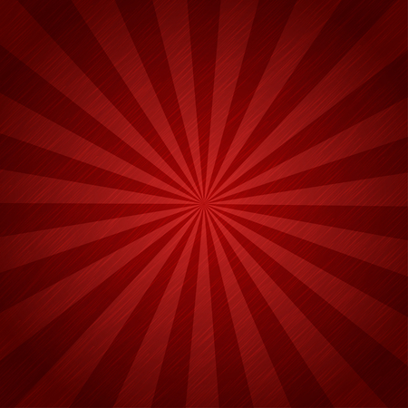 Red color burst background or sun  rays background Vettoriali