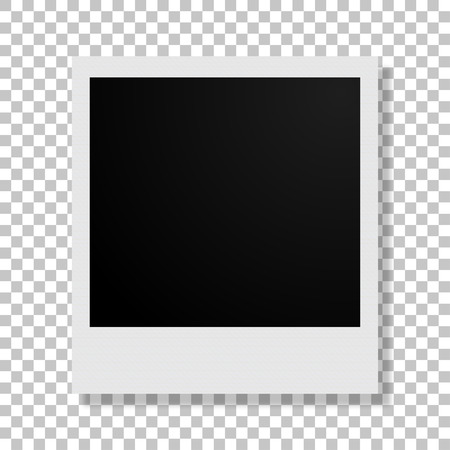 image size: Photo frame with shadow on an  isolated background