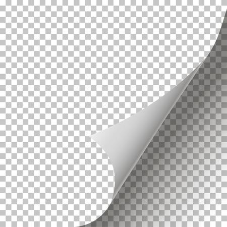 Gekrulde pagina Corner achtergrond geïsoleerd stijlvol design Stock Illustratie