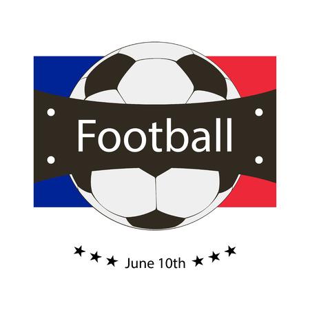 uefa: Logo emblem on the Euro 2016 stylish  vector illustration Illustration