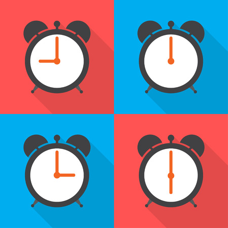 morning noon and night: Set alarm clocks with different time from  morning