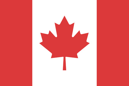 north america: Flag Canada sign vector illustration styles