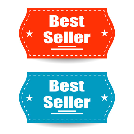 seller: Best seller stickers isolated background and stylish design Illustration