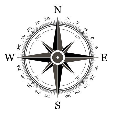 Compass on a white background vector illustration