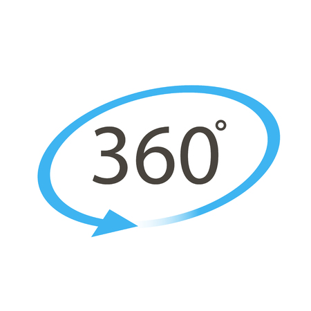 Icon 360 degrees on a white background