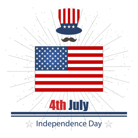 fourth of july: Illustration on day of Independence day july fourth